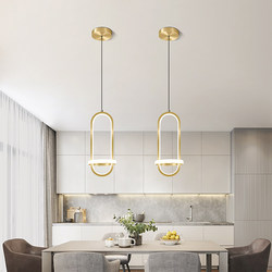 Modern Golden LED Pendant Lamp for Living Room Bedroom Bedside Nordic Minimalist Luster Long Line Hanging Light Home Decoration