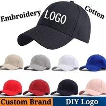 New Baseball Cap DIY Logo Custom-made Brand Running Snapback Cotton Embroidery Letter Wholesale High-quality Hip Hop Trucker Hat