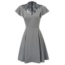Женское вечернее платье с коротким рукавом-крылышком