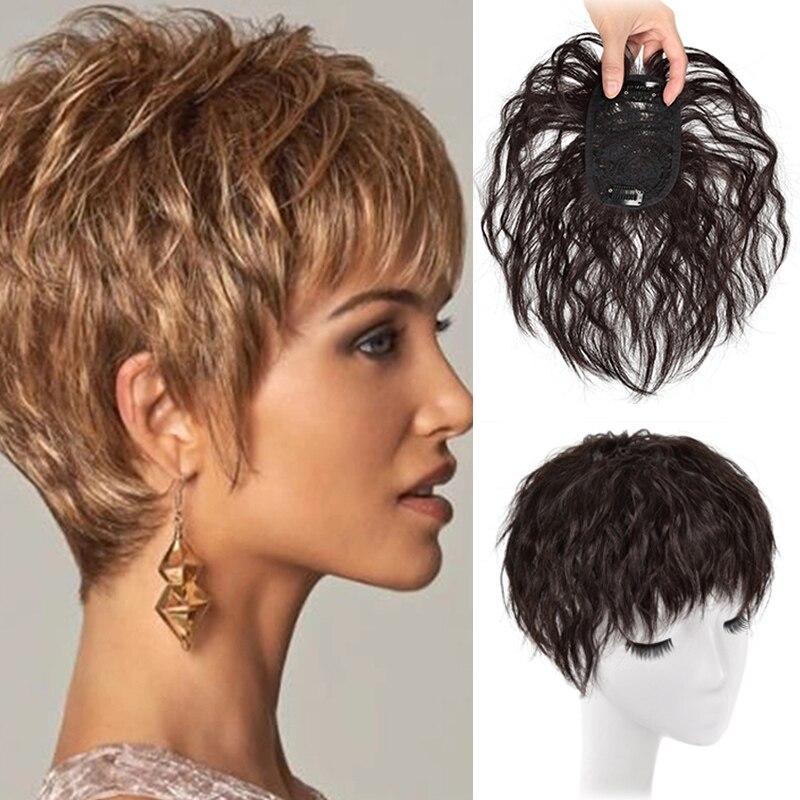 LUPU Женский Топ Пряжка для наращивания синтетических волос сменная застежка черный коричневый топ шиньон с кудрявыми челкой