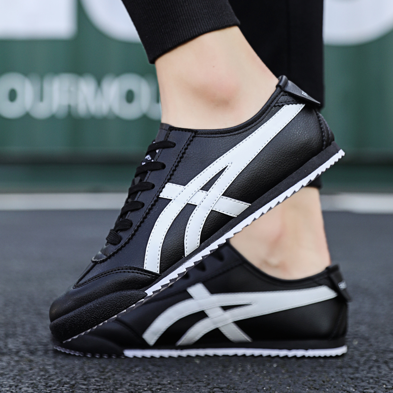 2020 New Men Casual Shoes Fashion Running Sports Shoes Comfortable Flat Sneakers Outdoor Sports Shoes Leather Waterproof Sneaker