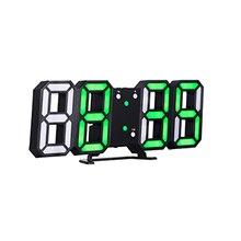 3D LED Digital Uhr USB Snooze Alarm Uhren Elektronische Tisch Uhr 24/12 Stunde Schreibtisch Hängen Wand Uhr Glowing Datum Temperatur