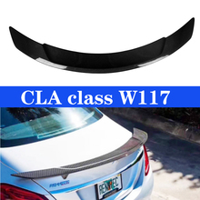 Carbon Fiber Rear Spoiler Trunk Wing Lid For Mercedes CLA Class W117 CLA250 CLA260 CLA45 2013~2019 цена