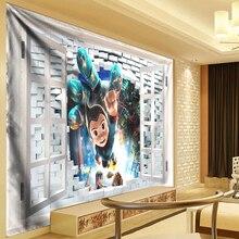 Anime Tapestry Kids Wall Hanging for Bedroom Mandala Cloth Outside Window tapiz pared tela tenture murale tissus