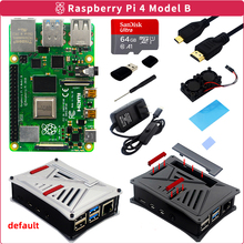 Raspberry Pi 4 Model B Kit 2GB/4GB/8GB RAM+ABS Case+Dual Cooling Fan+Power Adapter+Micro