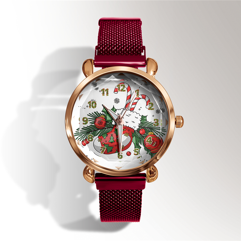 Customize Christmas Gift Watch Fashion Custom Name Logo Men Women Watches Diy Photo Quartz Clock Red Stainless Steel Hours Hot