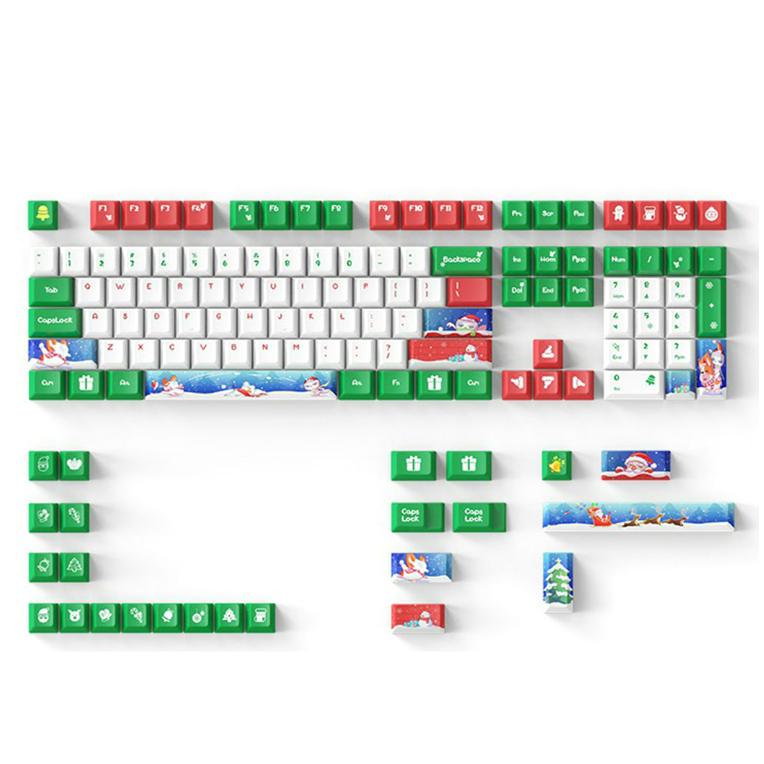 DAGK 132 keys Mechanical Keyboard Keycaps PBT Dye-Sub Mahjong Keycaps For 61 68 84 96 108 Mechanical Keyboard For Cherry6.25X