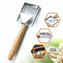 Wooden Handle Needle Honey Knife Sparse Shovel Cutter Honey Scraper Bee Shovel Comb Uncapping Fork Beekeeping Kitchen Tools double ended fork stainless steel honey comb uncapping fork honey scraper wooden handle beekeeping tool