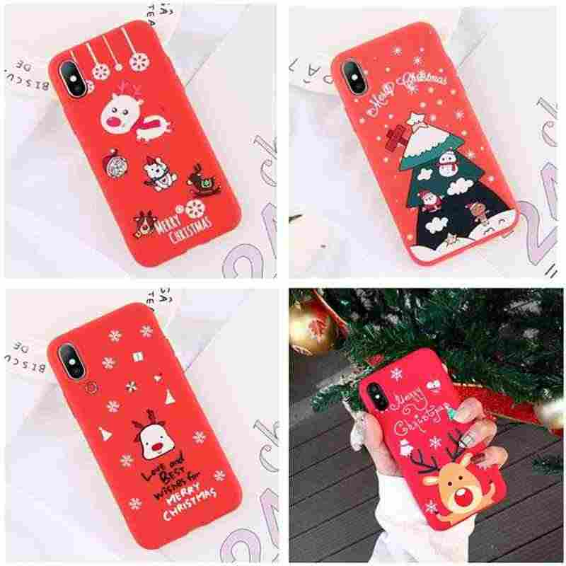 For Samsung Galaxy A50 A 50 2019 Phone Case Silicon Matte Soft Cute Cat Cover For Samsung A30 A20 A10 A505F A505 Christmas