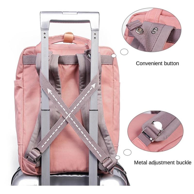 Image 5 - Women Canvas Backpack School Waterproof School Bags for Teenagers Shoulder Bag 14 Laptop Travel Bag Candy Multi color BackpackSchool Bags   -
