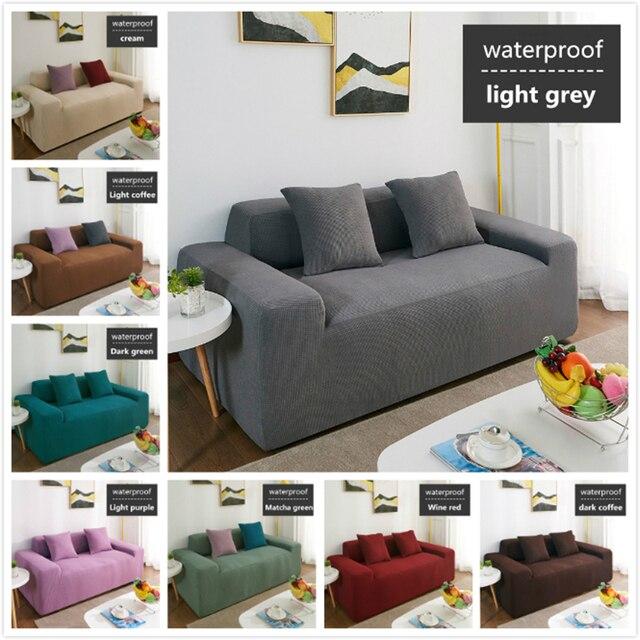 Wasserdicht Sofa Abdeckung Sofa Kissen Anti slip Pet Pad Windel Vier Jahreszeiten Sofa Handtuch Nordic Universelle Einfarbig