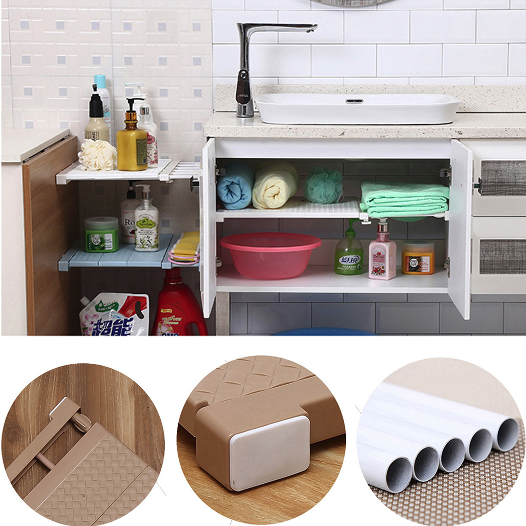 New Adjustable Closet Organizer Storage Shelf Wall Mounted Kitchen Rack Space Saving Wardrobe Decorative Shelves Cabinet Holders