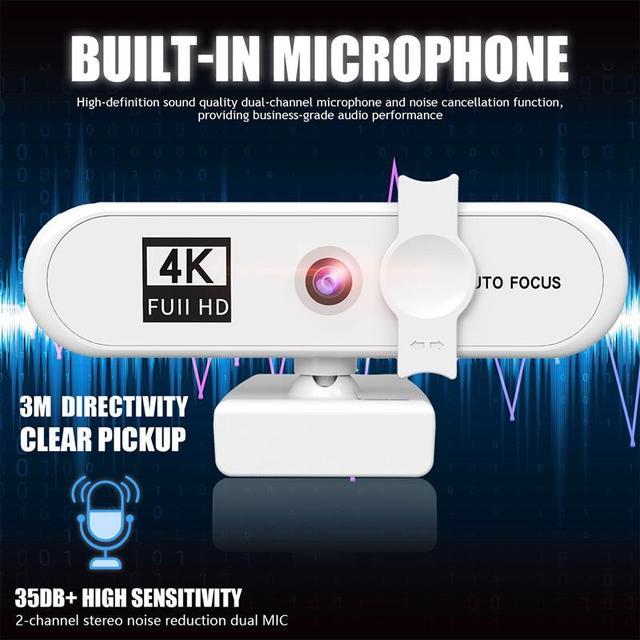 Новинка full hd 4k 2k 1080p веб Камера 120 градусов Автофокус