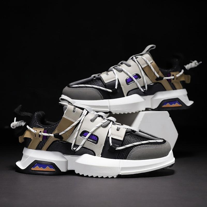 Повседневная обувь; Мужская дышащая удобная модная обувь; модель 2019 года; мужские износостойкие легкие кроссовки на шнуровке; zapatos hombre on AliExpress