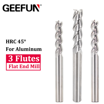 цена на 1-10mm Shank Carbide End Mill For Aluminum Milling Cutter 3 Flutes Milling Tools Non-Ferrous Metal Upcut CNC Spiral Router Bit