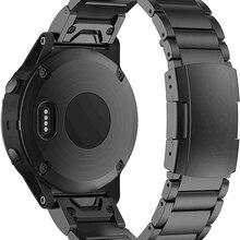 ANBEST 22mm Titan Legierung Uhr Band Strap Armband Kompatibel für Garmin Fenix 5 Plus/Fenix 6/Forerunner 945