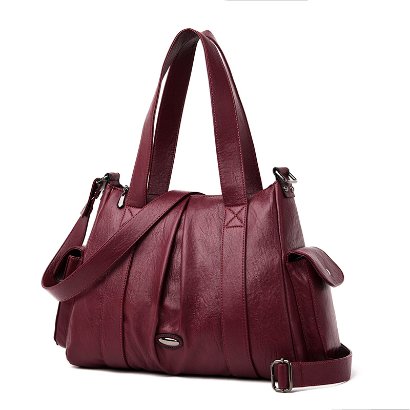 Image 2 - Women Genuine Leather Handbags Tote Soft Crossbody Shoulder Bags  for Women Large Capacity Luxury Handbags Women Bags DesignerShoulder  Bags