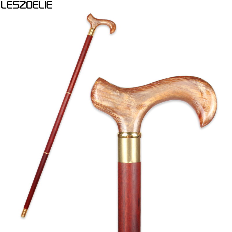 Resin Handle Walking Stick Canes For Man Luxury Decorative Cane Women Fashion Wooden Elegant Walking Stick Vintage Walking Canes