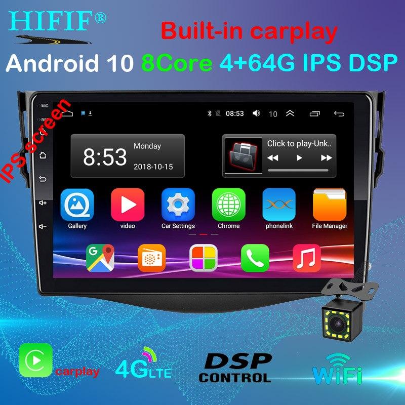 Z systemem Android 10 samochodowy odtwarzacz Dvd odtwarzacz dla Toyota RAV4 Rav 4 2007 2008 2009 2010 2011 2 din 1024*600 gps nawigacja wifi czterordzeniowy