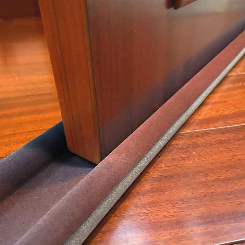 Tampa de poeira porta flexível ruído inferior esboço redução som weatherstrip janela selagem bloqueador 93cm tira prova selador sob