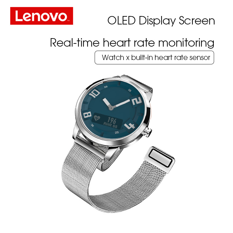 Lenovo Smart Watch Heart Rate Blood Pressure Watch Bluetooth 5 0 OLED Sapphire Mirror Sports Smartwatch Metal Men 39 s Watchs in Smart Watches from Consumer Electronics