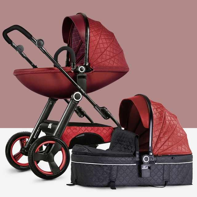 Kereta Dorong Bayi 3 In 1 Mewah Baby Walker Tinggi Pemandangan Kereta Dorong Sepeda Roda Tiga Lipat Kereta Bayi Trolley Bayi Kereta Bayi Gratis Pengiriman