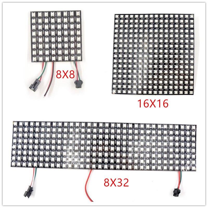 16x16 8x32 8x8 led Pixel WS2812B PANEL Digitale Flexible SK6812 LED Panel Einzeln adressierbaren volle Traum Farbe DC5V