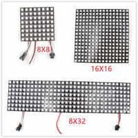 16x16 8x32 8x8 led pixels ws2812b painel digital flexível sk6812 led individualmente endereçável sonho completo cor dc5v