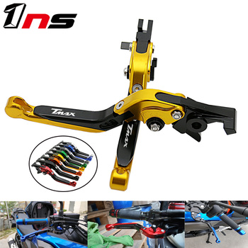 For YAMAHA TMAX 530 SX/DX 2012-2017 500 2010 2011 Motorbike Adjustable Foldable Extendable Brakes Clutch Levers CNC Handle
