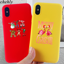 Corgi Phone Case for iPhone X XR XS Max 8 7 6 S Plus Merry Christmas Cases Soft Silicone Fitted Mobile Phone Accessories Covers цена