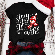 Tops for Women Long Sleeve,Eashery Merry Christmas Santa Graphic Cute Shirt Plaid Splicing Shirts Raglan Tees Baseball Tops