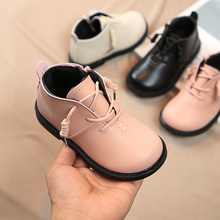 2019 Autumn New Baby Girl Martin Boots Girls Single Boots Catamite Short Boots Soft Bottom Baby Small Boots Princess PU Boots 2019 autumn new fashion children single boots male girl shoe soild student non slip short boots child martin boots