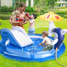 Portable indoor and outdoor baby dolphin swimming pool inflatable children inflatable swimming pool outdoor baby swimming pool #
