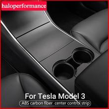 Model3 ModelY Auto Pannello di Controllo Centrale di Protezione Per Tesla Modello 3 Console Accessori Interni 2020 In Fibra di Carbonio Modello Y ABS