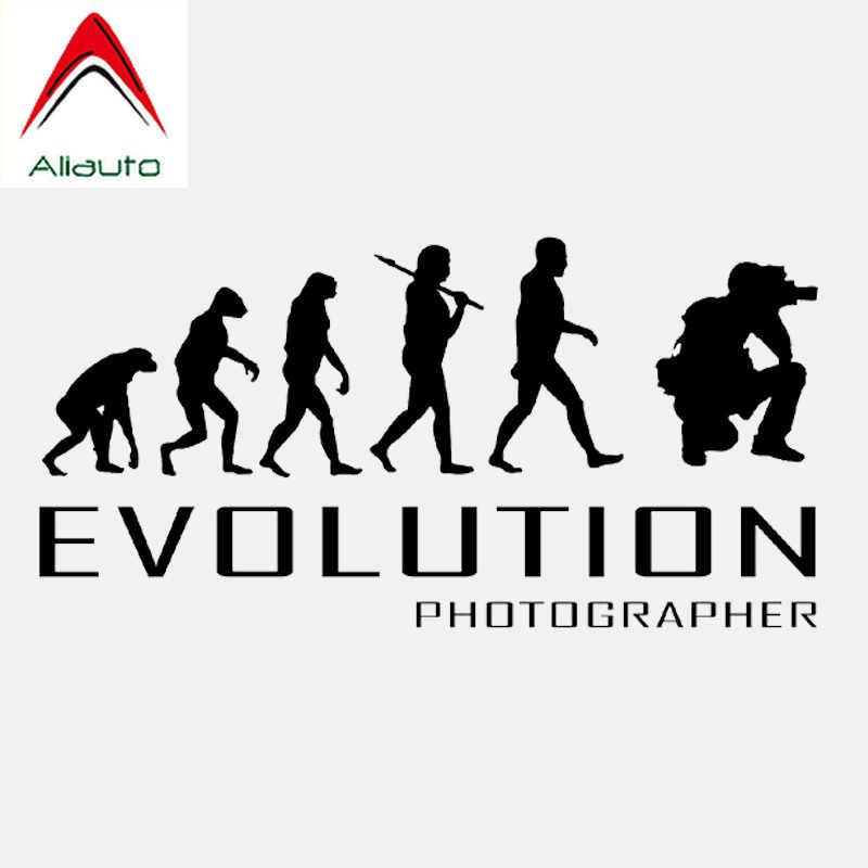 Aliauto الإبداعية سيارة ملصق تطور المصور الفن صور كاميرا الدراجات النارية اكسسوارات الفينيل أسود/فضي ، 16 سنتيمتر * 8 سنتيمتر