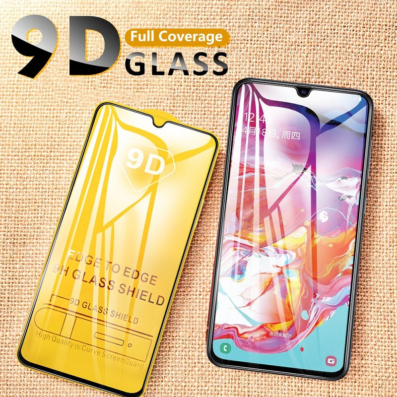 For Samsung Galaxy A50 A50s A40 A40s A30 A30s A20 A20s A20e A10 A10s A60 A70 Glass 9D Cover Tempered Glass Screen Protector Foil