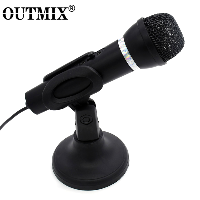 New Condenser Microphone 3.5mm Plug Home Stereo MIC Desktop Tripod For PC YouTube Video Skype Chatting Gaming Podcast Recording