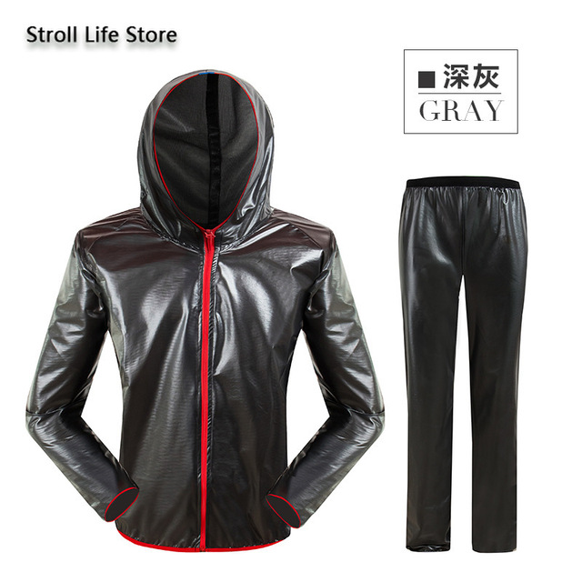 Outdoor Waterproof Suit Transparent Raincoat Men and Women Motorcycle Rain Coat Hiking Adult Thin Breathable Rain Pants Gift