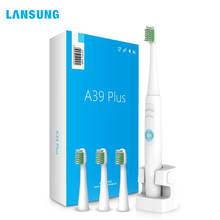 Lansung Sonic Electric Toothbrush Ultrasonic Deep Rechargeable Adult Toothbrush Heads Replaceable Whitening Waterproof Smart konka electric toothbrush ultrasonic waterproof brushing smart timer deep clean mode wireless inductive charging toothbrush