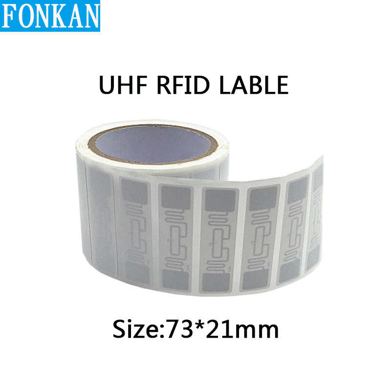 Epc C1G2 Uhf Rfid H47 Label J41 Natte Inlay 9662 White Label Sticker Tag Met M4/H3/R6 chip 50X50 Mm 73x21mm