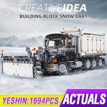 MOULD KING 13166 High-Tech Series The Snowplow Truck Model Sets Building Blocks Assemble Bricks Kids Boy's DIY Toy Christma Gift