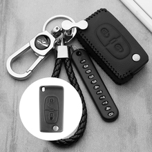 Luminous Leather car key case For Peugeot 306 407 807 Partner C2 C3 C4 Picasso Xsara C5 C6 C8 Berlingo smart key case cover