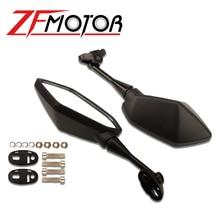 Черное мотоциклетное боковое зеркало заднего вида для Yamaha YZF600 YZF R1 R6 R3 R125 R25 R15 2003 2004 2005 2006 2007 2008 2009