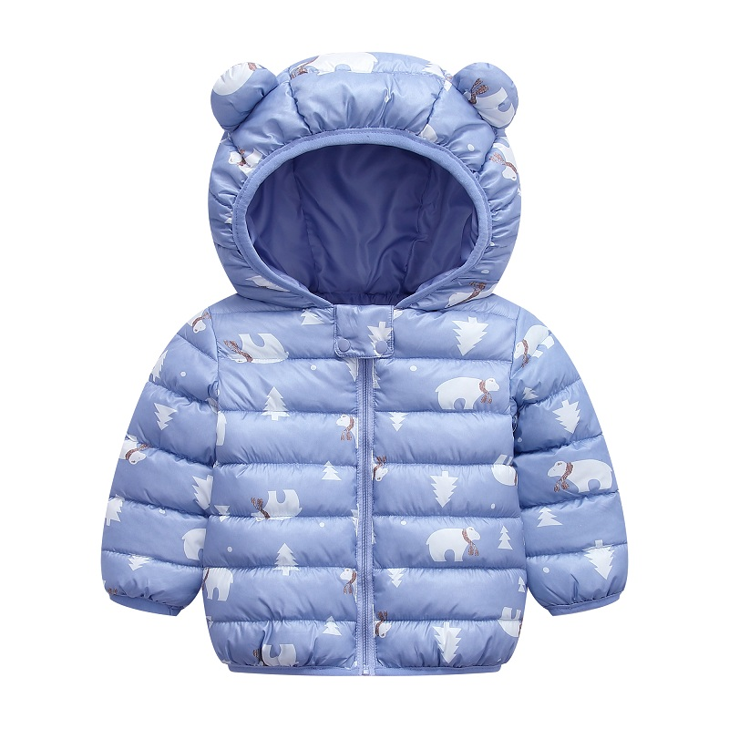 infant boy winter Warm clothes kids baby girls hooded coat Cartoon costume 2020 fashion children Outerwear Clothing cottons 0-5Y 4