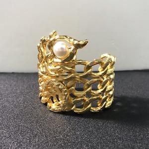 Image 1 - Quente da cor do ouro do vintage faraó egípcio design jóias besouro pulseira grande pulseira manguito quente marca jóias de cobre