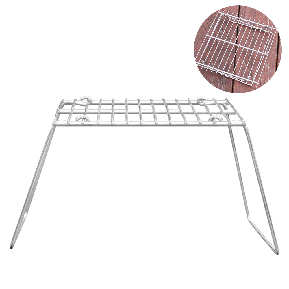 Stove Rack Outdoor Portable Folding Charcoal BBQ Grill Stainless Steel Picnic Barbecue Camping Pot Stand Support Stove Rack