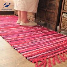 Скандинавский коврик из хлопка и льна для гостиной домашний