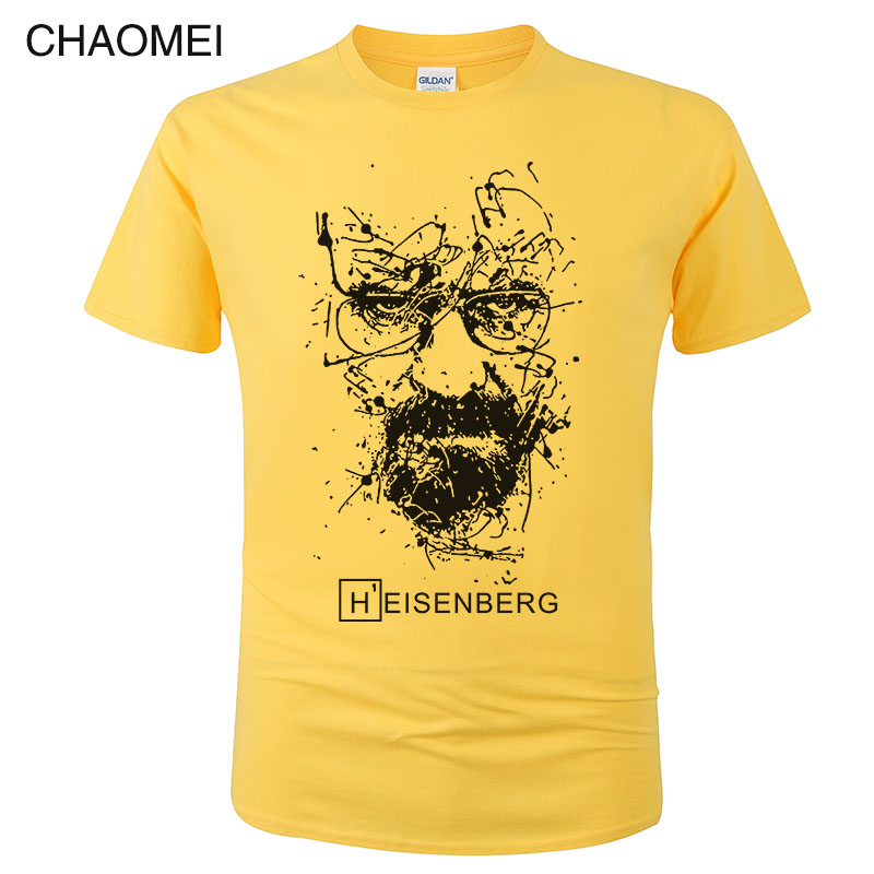 Cotton Heisenberg T Shirt Men Funny Casual Short Sleeve Breaking Bad Printed T-shirt Homme Fashion Cool Tee Unisex Clothes C98