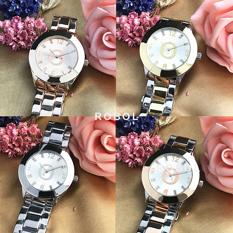RLLEN Stainless Steel Men Women Couples Quartz Watches Fashion Luxury Jewelry Gift Retro Precision Elegant Noble
