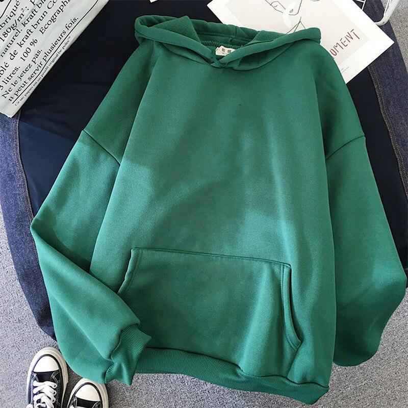 Long Sleeve Casual Sweatshirts harajuku plus size cute Pullover Women Pink oversized Hoodies Hooded Clothes kawaii tops 9